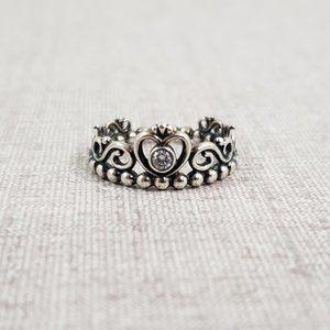 Pandora Princess Tiara Crown Ring Sz 6